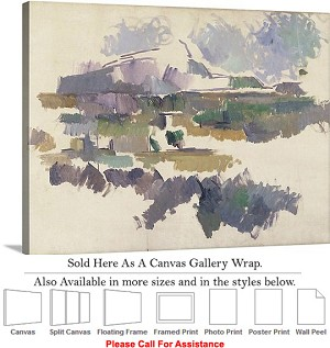 "Classic Art by Paul Cezanne Mont Sainte Victoire Canvas Wrap 30"" x 23"""