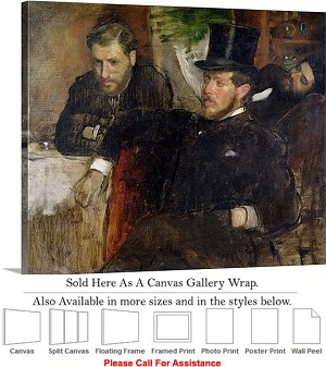 "Classic Art Edgar Degas Jeantaud Linet and Laine Canvas Wrap 24"" x 19"""