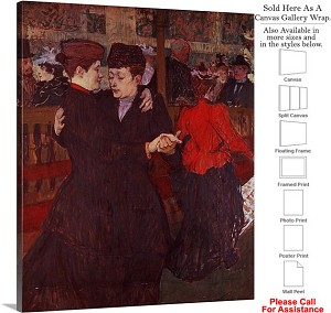"Classic Artwork by Henri de Toulouse-Lautrec-7 Canvas Wrap 19"" x 24"""
