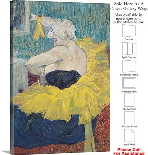 "Classic Artwork by Henri de Toulouse-Lautrec-11 Canvas Wrap 20"" x 30"""