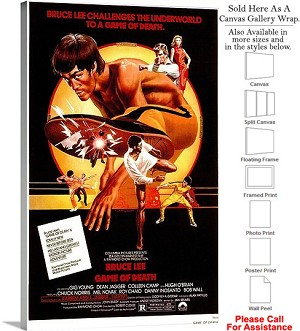 "Game of Death Famous Action Movie Theater Art Canvas Wrap 18"" x 30"""