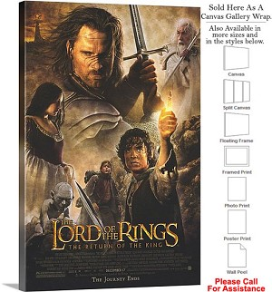 "Lord of the Rings Return of the King Movie Art Canvas Wrap 20"" x 30"""