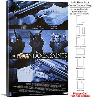 "Boondock Saints Famous Action Movie Theater Art-2 Canvas Wrap 20"" x 30"""