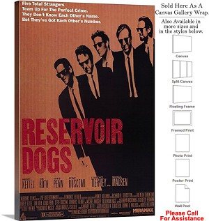 "Reservoir Dogs Famous Action Movie Theater Art-2 Canvas Wrap 20"" x 30"""