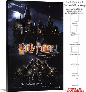 "Harry Potter and the Sorcerers Stone Movie Art Canvas Wrap 20"" x 30"""