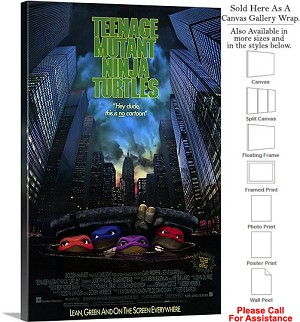 "Teenage Mutant Ninja Turtles Movie Theater Art Canvas Wrap 20"" x 30"""