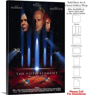 "The Fifth Element Famous Movie Theater 1997 Art Canvas Wrap 20"" x 30"""