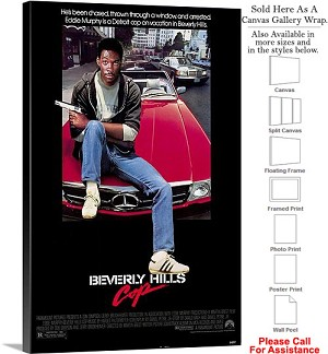 "Beverly Hills Cop Famous Movie Theater 1984 Art Canvas Wrap 20"" x 30"""