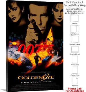 "Goldeneye 007 Famous Action Movie Theater 1995 Art Canvas Wrap 20"" x 30"""