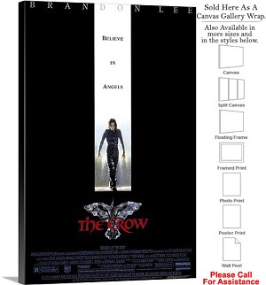 "The Crow Famous Action Movie Theater 1994 Art-2 Canvas Wrap 20"" x 30"""
