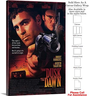 "From Dusk Till Dawn Famous Movie Theater 1995 Art Canvas Wrap 20"" x 30"""