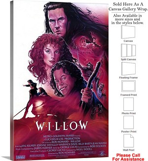"Willow Famous Action Movie Theater 1988 Art-2 Canvas Wrap 20"" x 30"""