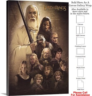"The Lord of the Rings the Two Towers Movie Art-3 Canvas Wrap 20"" x 30"""