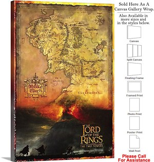 "The Lord of the Rings the Two Towers Movie Art-2 Canvas Wrap 20"" x 30"""