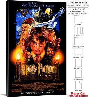 "Harry Potter and the Sorcerers Stone Movie Art-2 Canvas Wrap 20"" x 30"""
