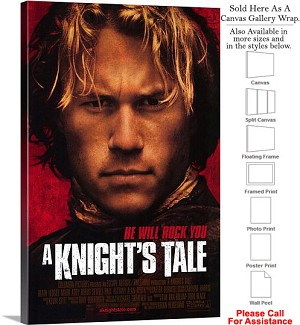"A Knights Tale Famous Action Movie Theater Art Canvas Wrap 20"" x 30"""