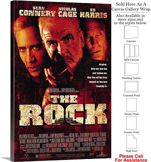 "The Rock Famous Action Movie Theater 1996 Art Canvas Wrap 20"" x 30"""