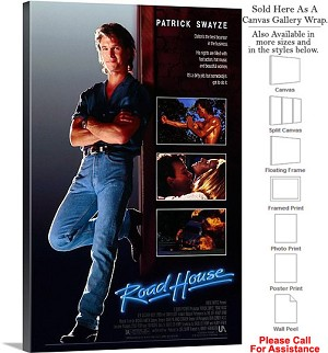 "Road House Famous Action Movie Theater 1989 Art Canvas Wrap 20"" x 30"""