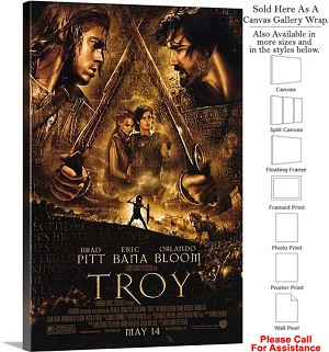 "Troy Famous Action Movie Theater 2004 Art-3 Canvas Wrap 20"" x 30"""
