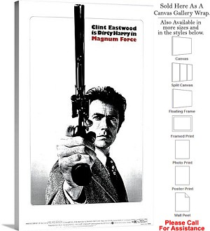 "Magnum Force Famous Action Movie Theater 1973 Art Canvas Wrap 18"" x 30"""