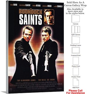 "Boondock Saints Famous Movie Theater 1999 Art Canvas Wrap 20"" x 30"""