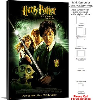 "Harry Potter and the Chamber of Secrets Movie Art Canvas Wrap 20"" x 30"""