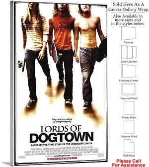 "Lords of Dogtown Famous Action Movie Theater Art Canvas Wrap 18"" x 30"""
