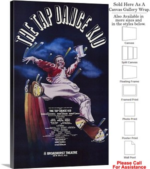 "The Dance Kid 1983 Famous Broadway Musical Show Canvas Wrap 18"" x 30"""
