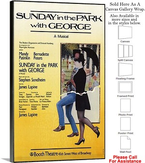 "Sunday in Park with George 1984 Broadway Musical Canvas Wrap 18"" x 30"""