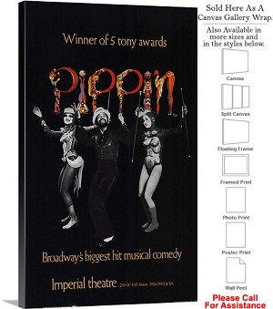 "Pippin 1972 Famous Broadway Musical Production Canvas Wrap 18"" x 30"""