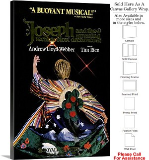 "Joseph and Technicolor Dreamcoat 1982 Broadway Canvas Wrap 20"" x 30"""