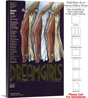 "Dreamgirls 1981 Famous Broadway Musical Show-2 Canvas Wrap 18"" x 30"""