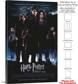 "Harry Potter and the Goblet of Fire Movie Art Canvas Wrap 20"" x 30"""