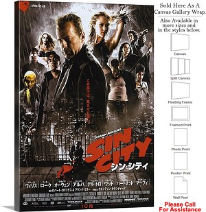 "Sin City Famous Action Movie Theater 2005 Art Canvas Wrap 20"" x 30"""