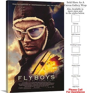"Flyboys Famous Action Movie Theater 2006 Art-2 Canvas Wrap 20"" x 30"""