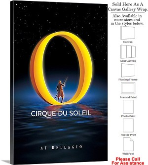 "Cirque du Soleil 2007 Famous Performance Show-3 Canvas Wrap 18"" x 30"""