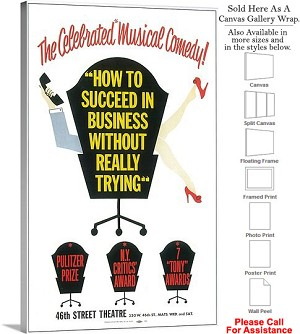 "How to Succeed In Business Without Trying 1961 Canvas Wrap 18"" x 30"""
