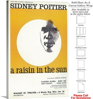 "A Raisin In The Sun 1959 Famous Broadway Musical Canvas Wrap 20"" x 30"""