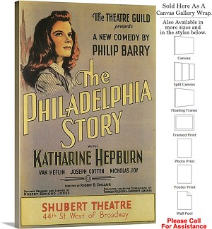"The Philadelphia Story 1939 Broadway Musical Show Canvas Wrap 20"" x 30"""