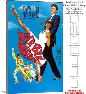 "Bye Bye Birdie 1960 Famous Broadway Musical Show Canvas Wrap 18"" x 30"""