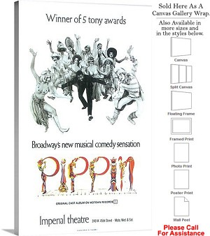 "Pippin 1972 Famous Broadway Musical Production-2 Canvas Wrap 18"" x 30"""