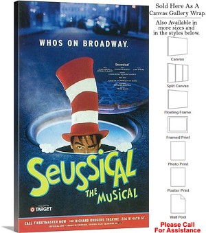 "Seussical 2000 Famous Broadway Musical Production Canvas Wrap 18"" x 30"""