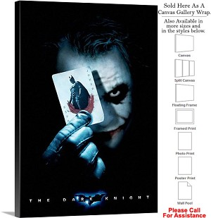 "The Dark Knight Action Movie Theater 2008 Art-6 Canvas Wrap 20"" x 30"""