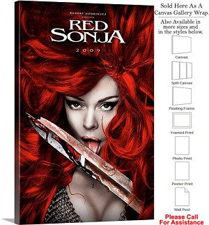 "Red Sonja Famous Action Movie Theater 2009 Art-2 Canvas Wrap 20"" x 30"""