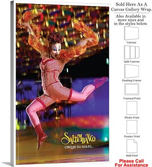 "Cirque du Soleil Saltimbanco™ 2007 Performance Canvas Wrap 18"" x 30"""