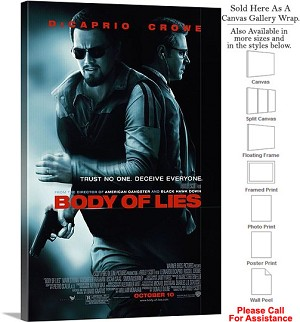 "Body of Lies Famous Action Movie Theater 2008 Art Canvas Wrap 20"" x 30"""