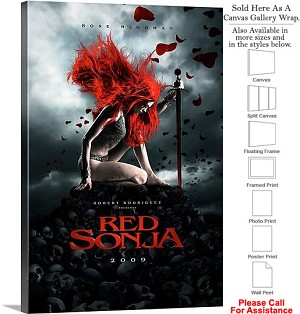 "Red Sonja Famous Action Movie Theater 2009 Art Canvas Wrap 20"" x 30"""