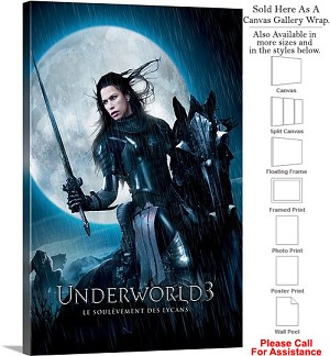"Underworld 3 Rise of the Lycans Movie 2009 Art-2 Canvas Wrap 20"" x 30"""