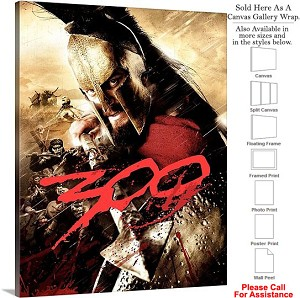 "300 Famous Action Movie Theater 2007 Art Canvas Wrap 23"" x 30"""