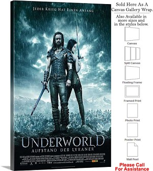 "Underworld 3 Rise of the Lycans Movie 2009 Art-3 Canvas Wrap 18"" x 30"""